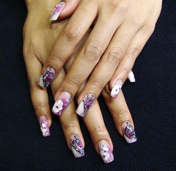 16-unhas-decoradas com-borboletas---15