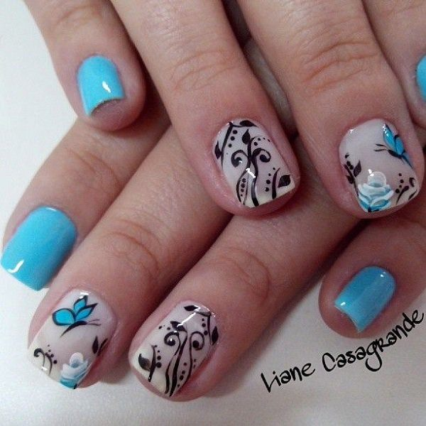 21-unhas-decoradas com-borboletas--